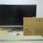 AQUOSとSONYのブルーレイの組み合わせは問題ナシ:TV本体と購入したてのBDZ-AT700