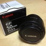 撒き餌レンズことCanon EF50mm F1.8 II をEOSKiss用に買ってきたの巻