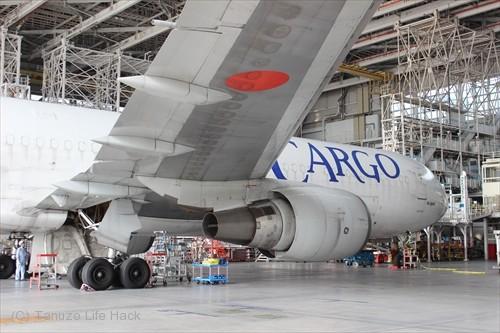 ANA格納庫内 B767貨物機