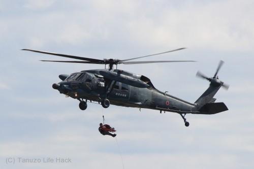 2014入間基地航空祭:UH-60J救助活動