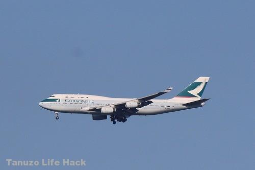 キャセイパシフィック航空B747 成田空港