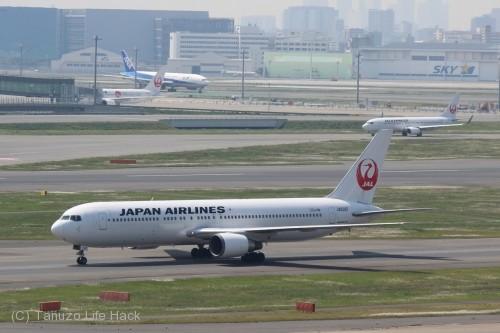 羽田空港第1ターミナル撮影_JALタキシング