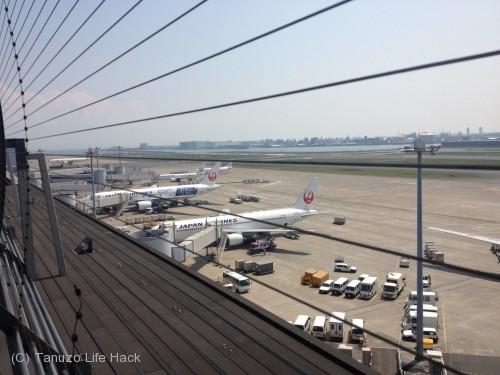 羽田空港第1ターミナル撮影_デッキの様子