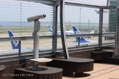 羽田空港第2ターミナル撮影_デッキ望遠鏡