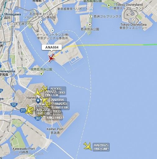 羽田空港南風運用