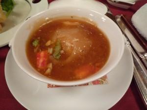 目黒雅叙園披露宴メニュー:フカヒレ姿蟹ミソ煮込み 茶碗蒸し仕立て