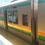 湘南新宿ライン・東海道新幹線のグリーン車で最も楽な席の巻:このガラスが2つの部分です。