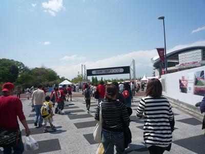 埼玉スタジアムでレッズ戦を観に行った:埼玉スタジアムに到着です。