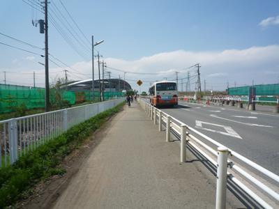 埼玉スタジアム(レッズ戦)に自転車で行く:自転車ルートを走る