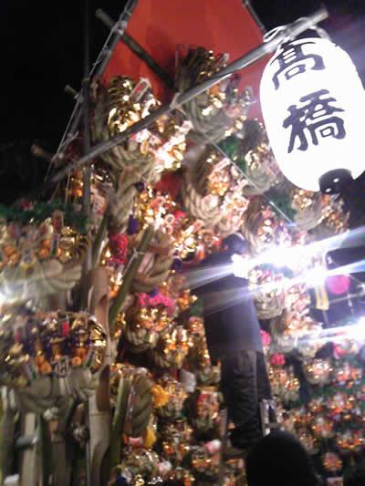 埼玉の酉の市・川口神社の酉の市(おかめ市)は12月15日に開催