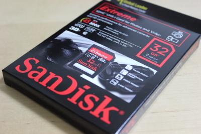 EOS KissX5用に32GBクラス10のSDカードを買った